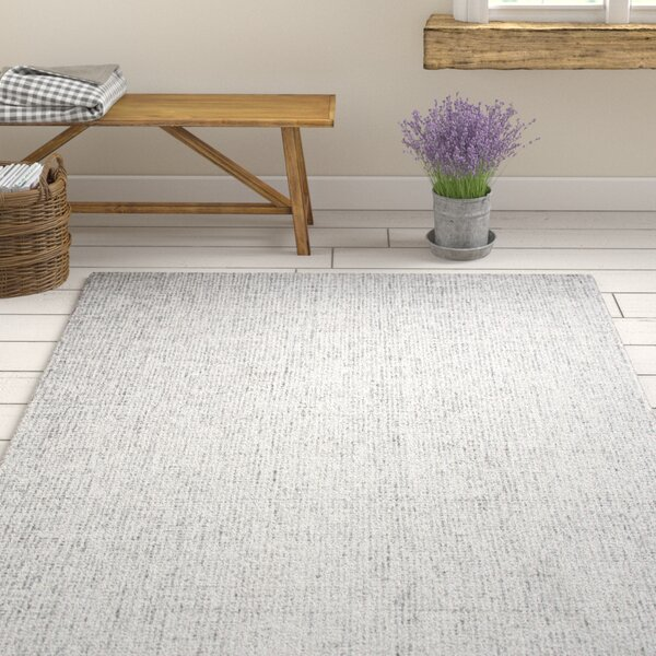 Marsh Hand-Tufted 100% Wool Gray Area Rug by Gracie Oaks